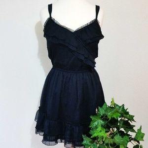 A&F Ruffled V-Neck Elastic Waist Summer Dress; L
